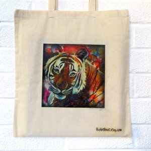 tiger bag Canvas tote