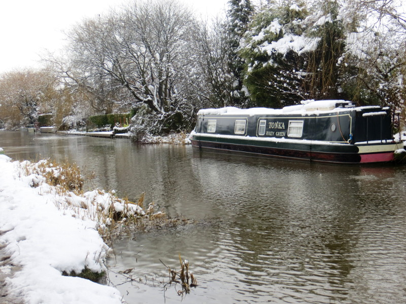 The Art Boat in the snow
