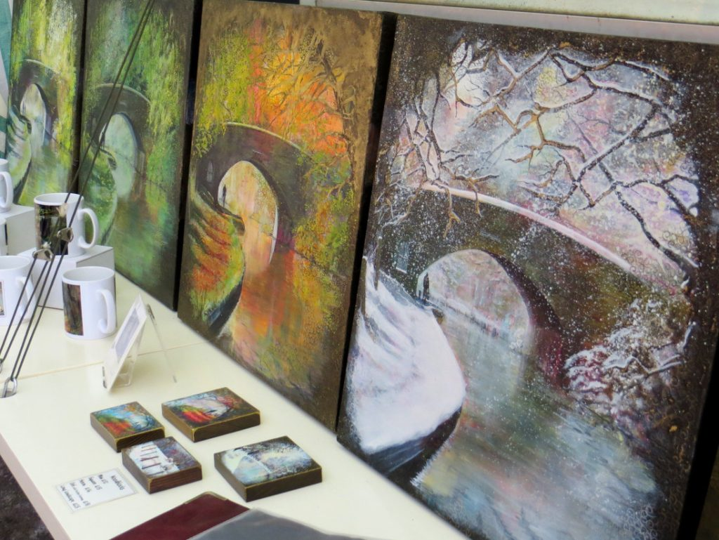 Mugs and seasons paintings