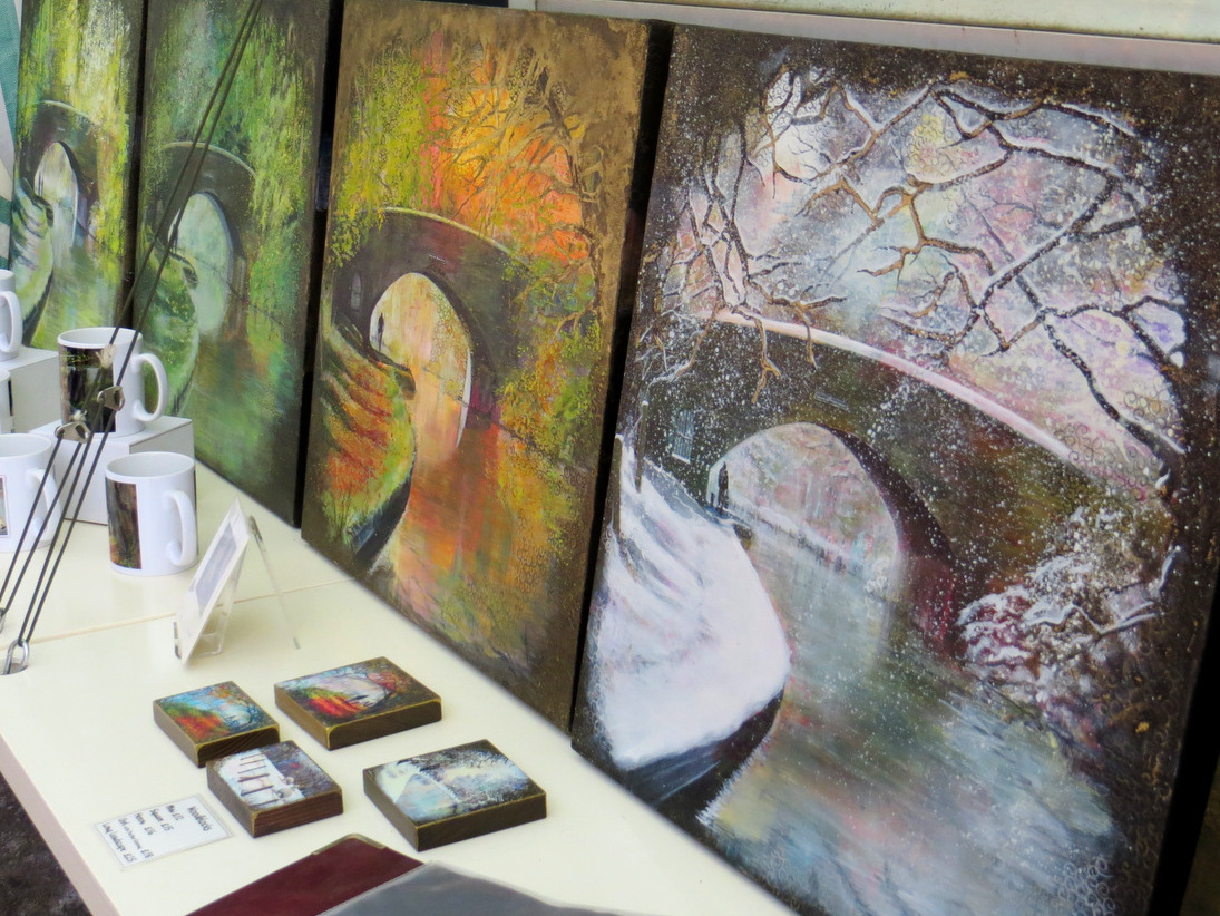 Mugs and seasons paintings