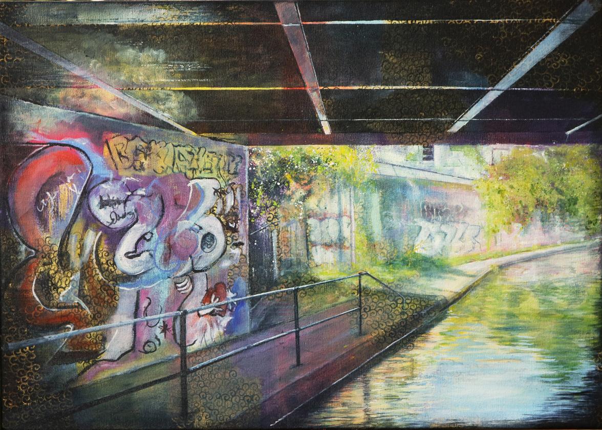 Graffitti, London near Camden Town