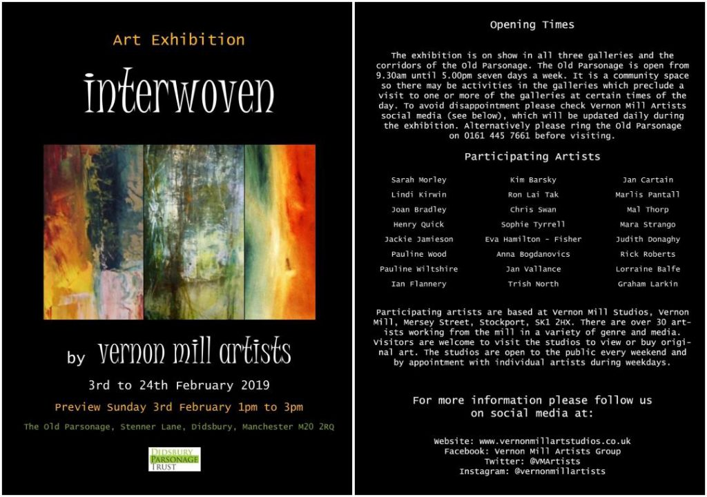 Vernon Mill Artists mixed group exhibition